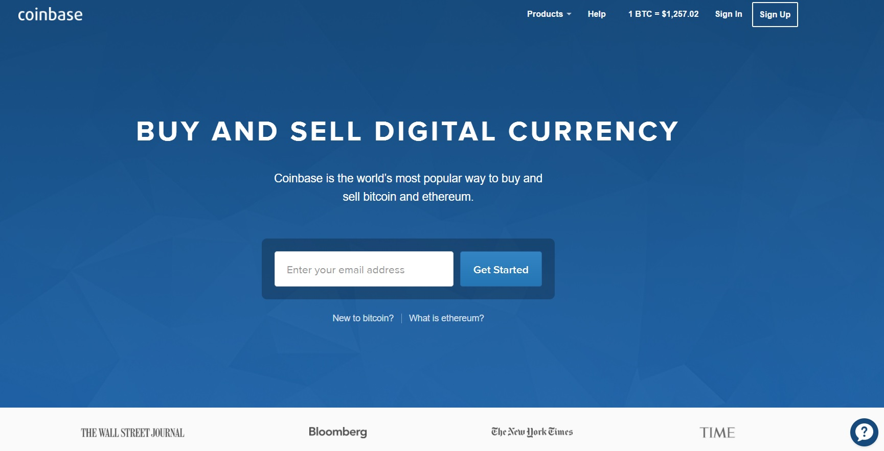 Coinbase.com Bitcoin Exchange