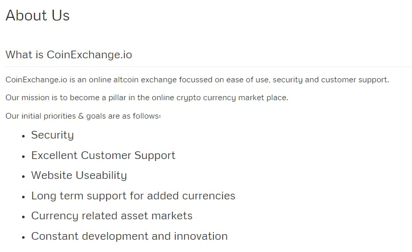 CoinExchange.io - About Us