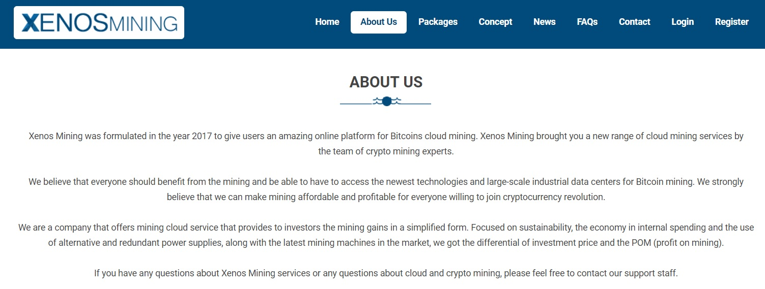 Xenos Mining - About Us
