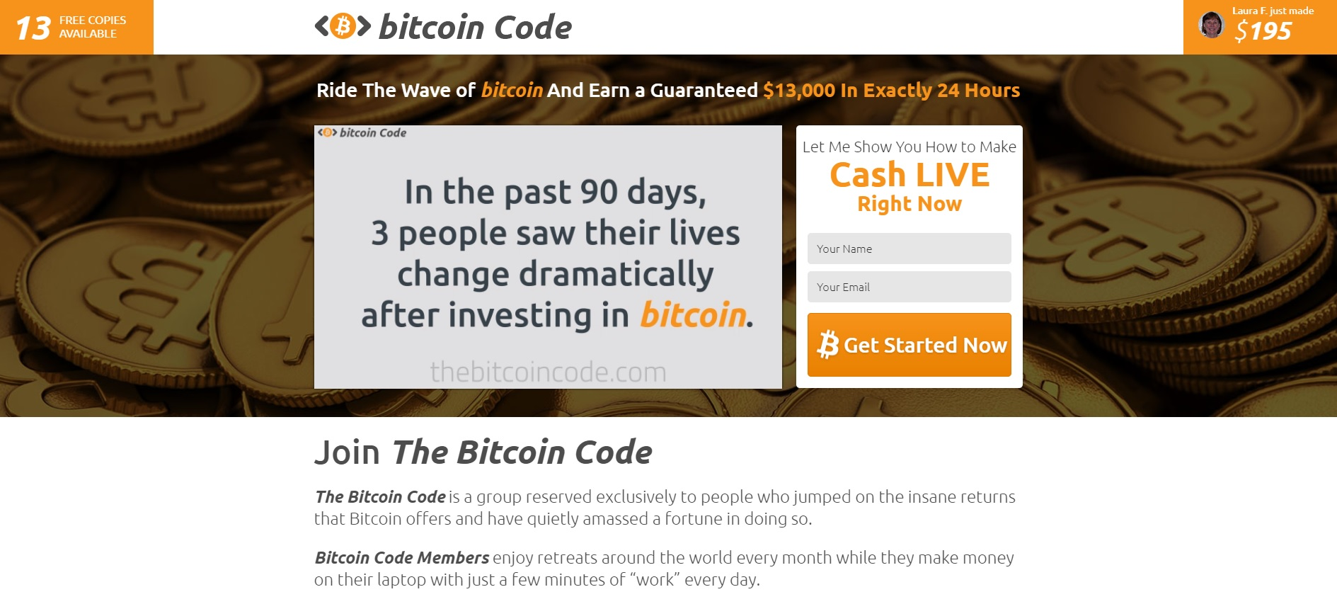 thebitcoincode.com - The Bitcoin Code Website