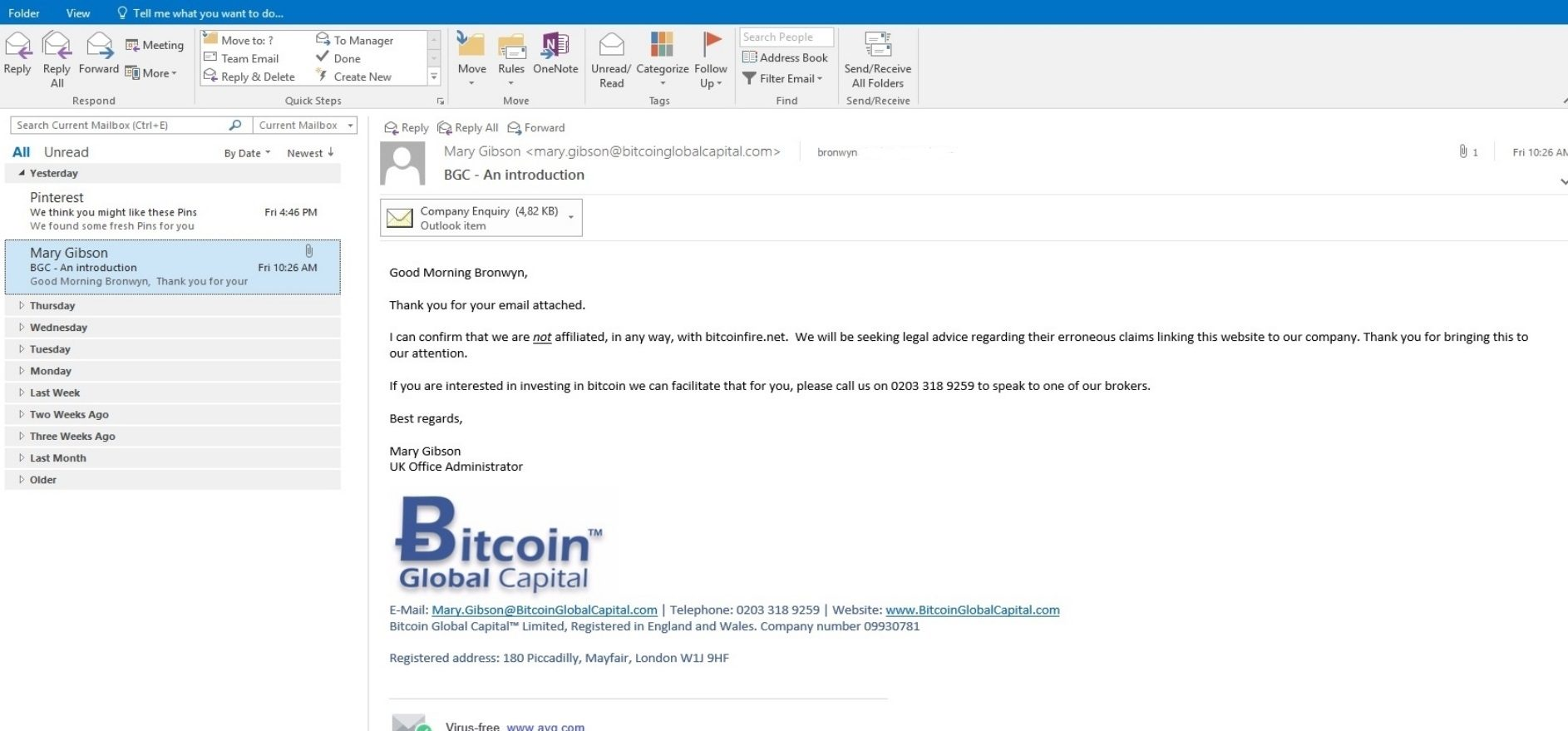 BitcoinFire is a SCAM!