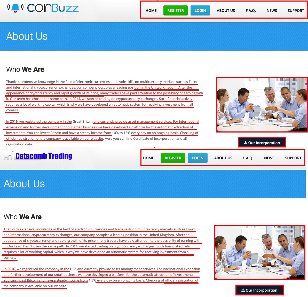 CoinBuzz -Similar Website Trait