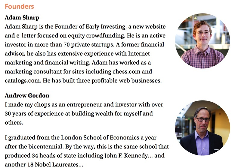 Early Investing's Founders