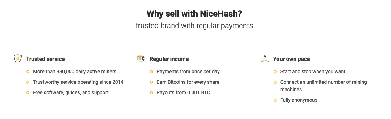 NiceHash Seller