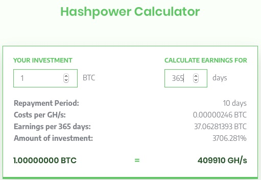 Sierra HashPower Calculator