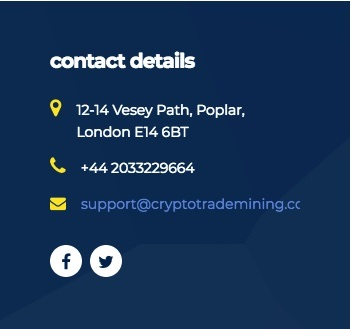 CryptoTradeMining.com - Contact Details