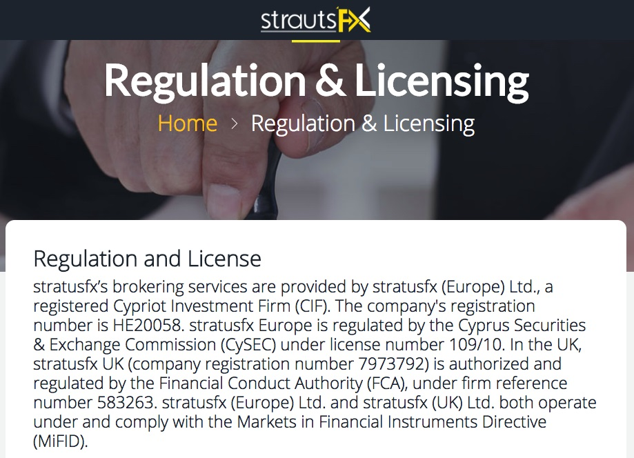 StrautsFX Regulatory Information