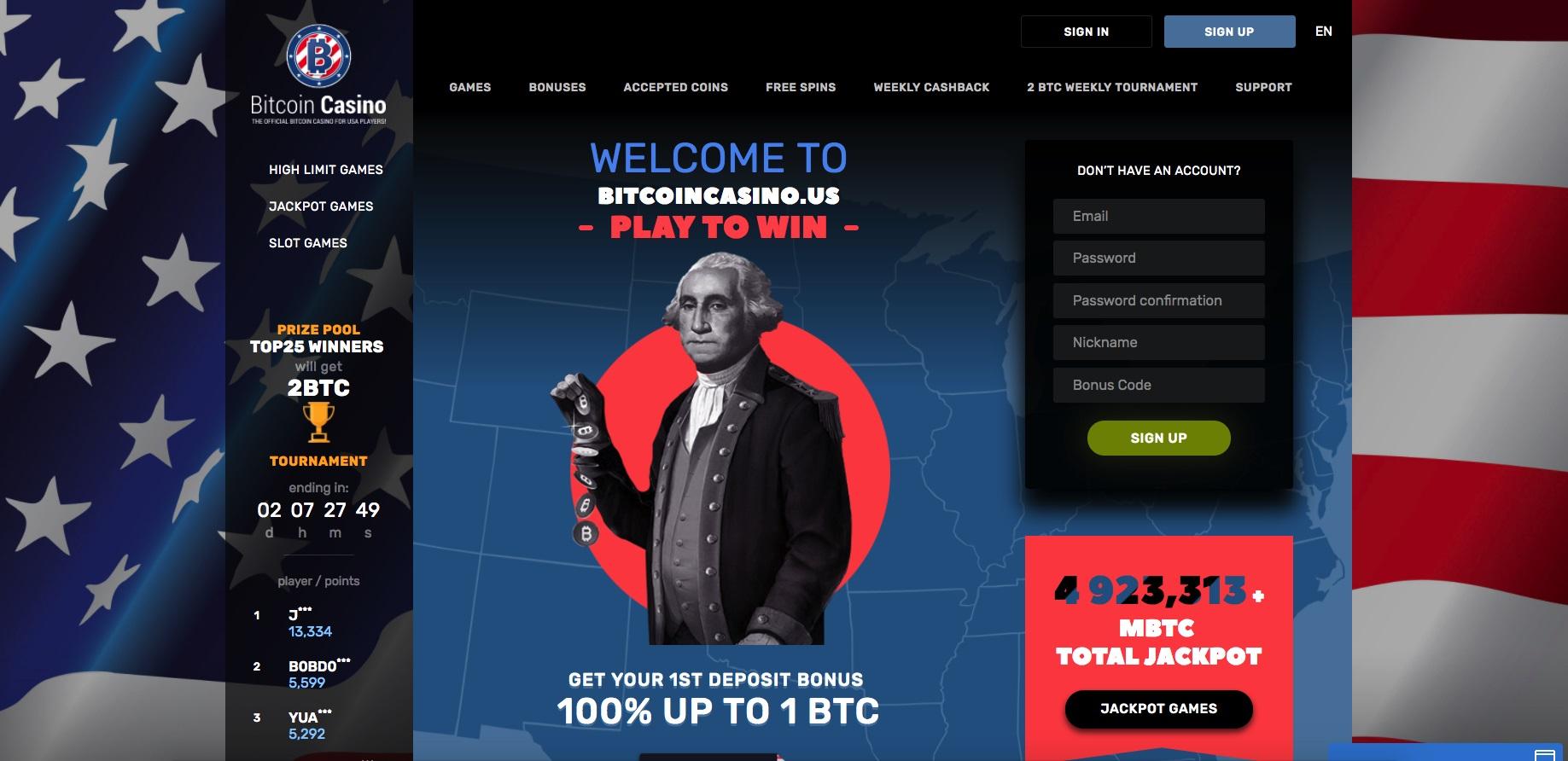 bitcoincasino.us - Bitcoin Casino US