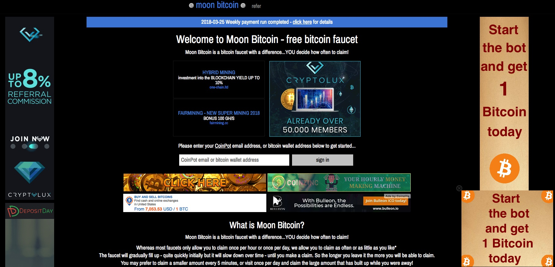 Moon Bitcoin Review – Legit Bitcoin Faucet as of 2018? – Scam Bitcoin