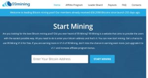 99Mining.cloud - Scam Review