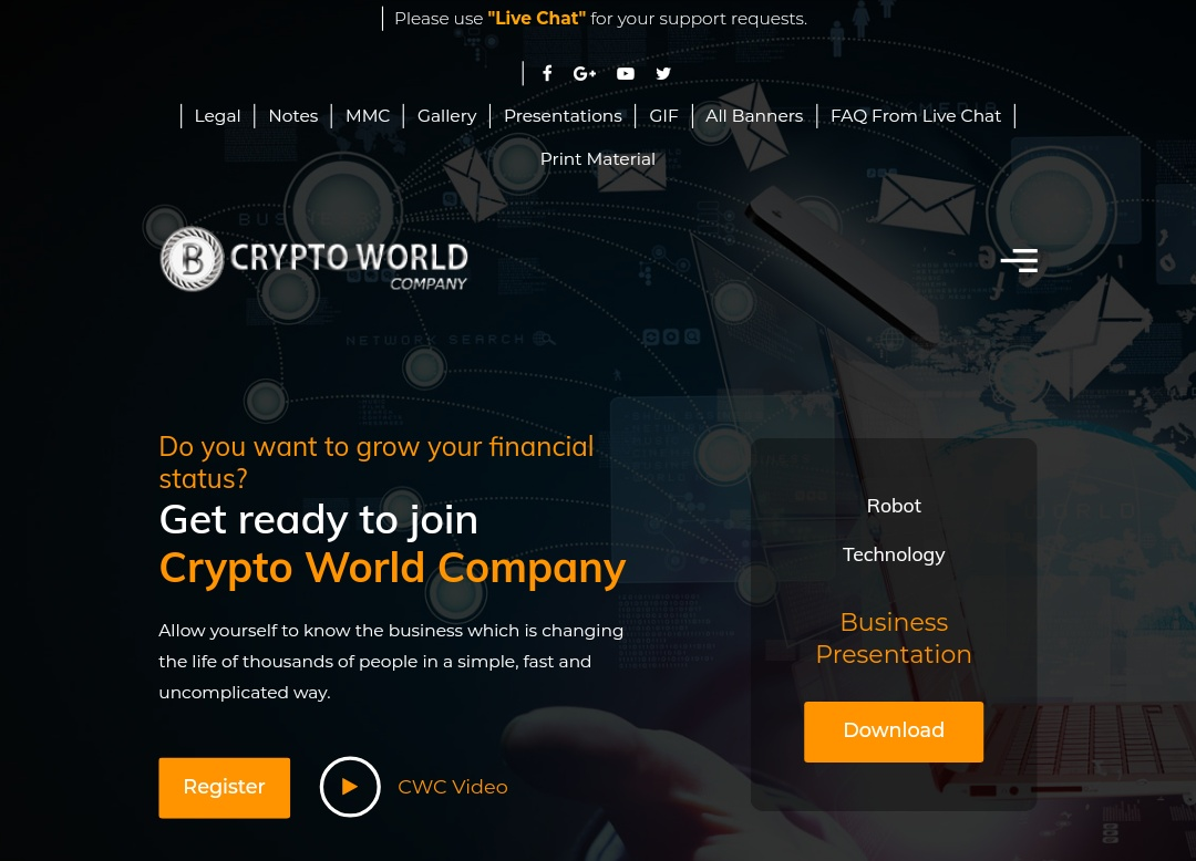 Cryptoworldcompany.com - Scam Review