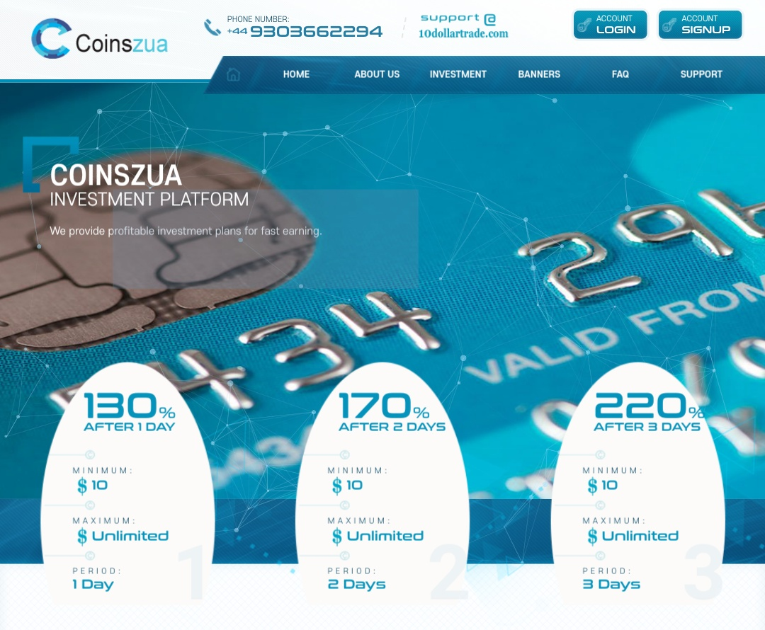 Coinszua.com - Scam Review